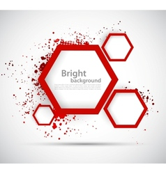 Background with hexagons vector image