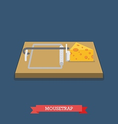 Mousetrap flat style icon vector