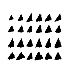 Collection of hand drawn triangles vector