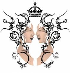 mirror reflection vector image