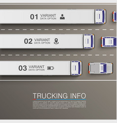Freight transportation info vector