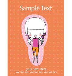 Scrapbook design elements cute baby girl set vector