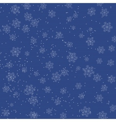 Christmas blue background with falling snowflakes vector image
