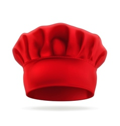 Red chef hat vector image