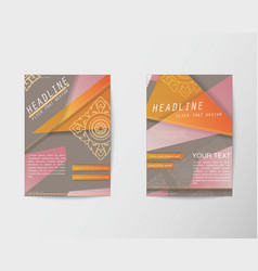 Abstract triangle design thai style brochure flyer vector