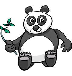 Giant panda cartoon vector