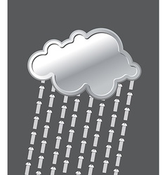 Rain of bolts metal iron cloud precipitation of vector