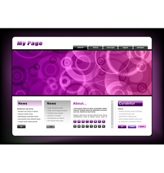 web template in the purple vector image