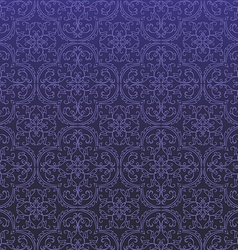 Seamless damask background pattern design and vector
