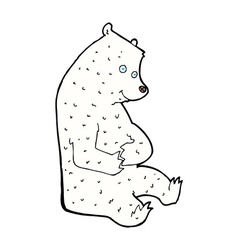 Comic cartoon happy polar bear vector