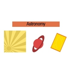 Assembly flat icons astronomy lesson vector