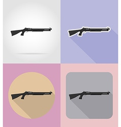 Weapon flat icons 08 vector