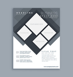 abstract business brochure template design in vector image