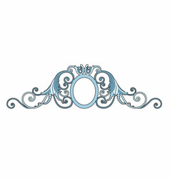 baroque decoration vector image vector image