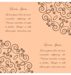 Beige background with brown ornate pattern vector