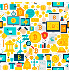Bitcoin seamless pattern vector