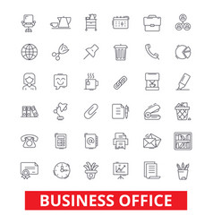 Business office web interface email calendar vector