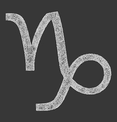 Capricorn zodiac sign line art vector