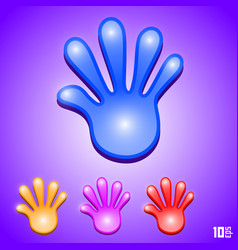 Cartoon hand vector