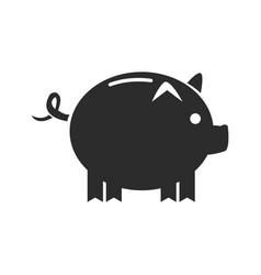 cartoon piggy money security bank icon vector image vector image