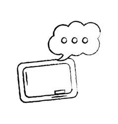 Chalkboard and speech bubble school supplies icon vector
