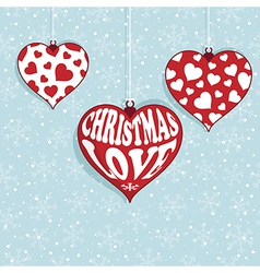 christmas love vector image vector image