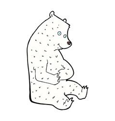 Comic cartoon happy polar bear vector