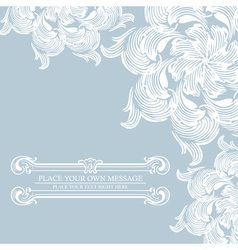 Elegance vintage card with place for text vector image vector image