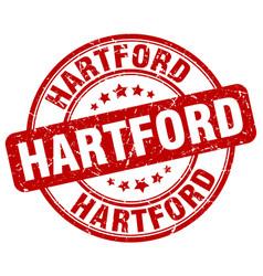 Hartford red grunge round vintage rubber stamp vector