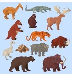 Ice age animals set vector