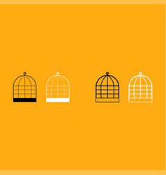 iron cage it is white icon vector image vector image