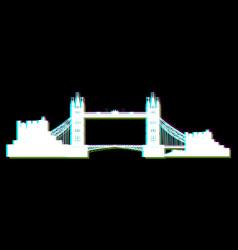 Isolated london cityscape vector