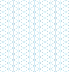 Isometric grid seamless pattern vector