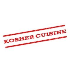 Kosher cuisine watermark stamp vector