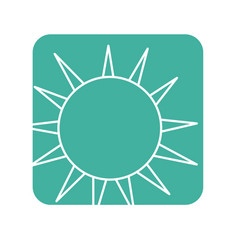 Label nice light sun image vector