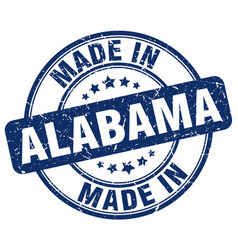 made in alabama blue grunge round stamp vector image vector image