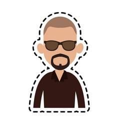 Man cartoon icon image vector