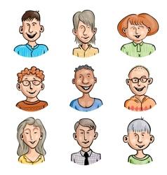 Men and women set vector image