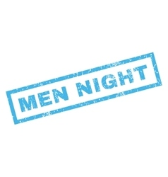 Men night rubber stamp vector