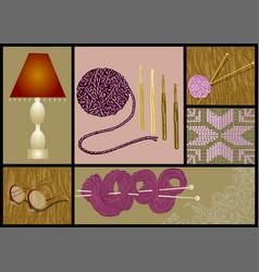 Needlework knitting vector