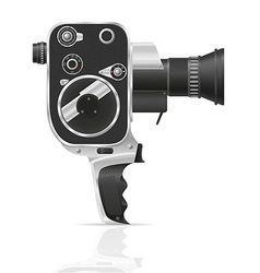 Old retro vintage movie video camera 02 vector