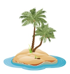 Palm Tree on Island4 vector image vector image
