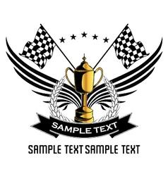 race emblem vector image vector image