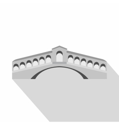 Rialto bridge venice icon flat style vector