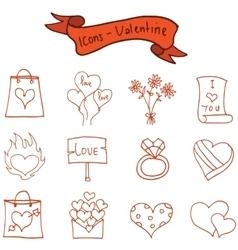 Romance theme valentine of icons vector