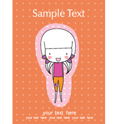 Scrapbook design elements cute baby girl set vector