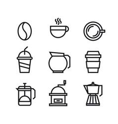 unique coffee and drink symbol or icon design vector image