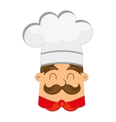 Silhouette chef uniform icon vector