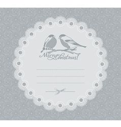Christmas card with bullfinches vector