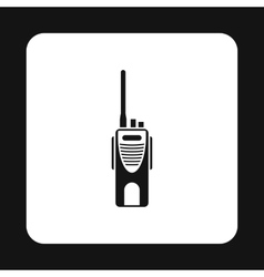 Radio transmitter icon simple style vector